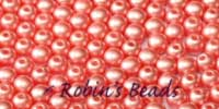 100 Czech Glass Round Beads 3mm Beads Opaque Pastel Light Coral