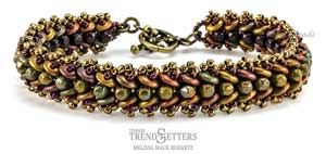 Vineyard Harvest Bracelet Pattern by Melissa Mauk Rodarte